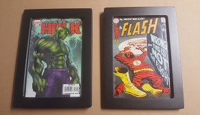 Silver Age and Modern Age Comic Book in Same Style Frame
