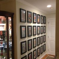 Wall of Graded Comic Books in Frames
